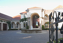 Entering through the wrought-iron gates, you will feel as though you have come upon a Venetian Villa.